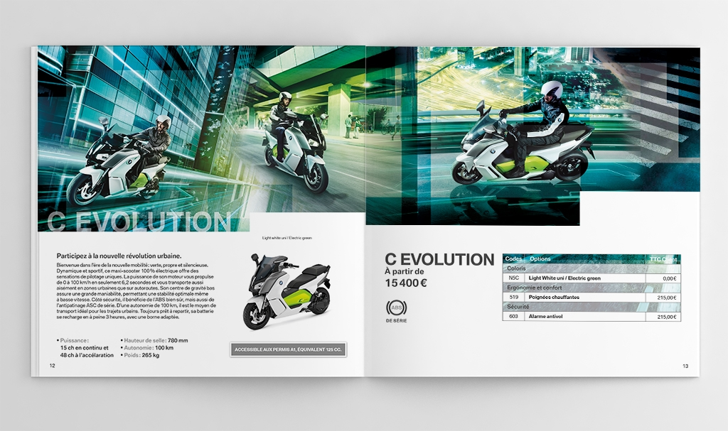 Catalogue scooters BMW C Evolution