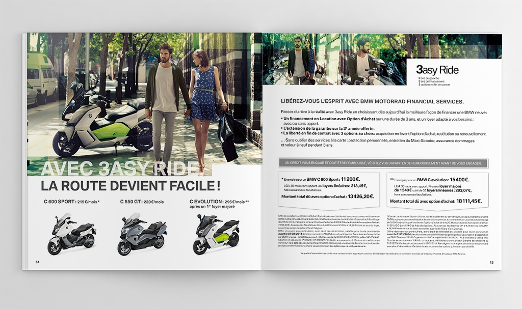 Catalogue scooters BMW 3asy Ride