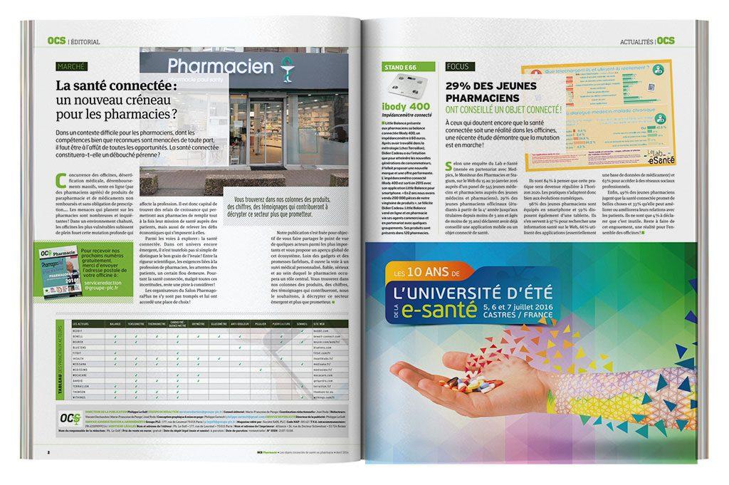 OCS double-page news produits