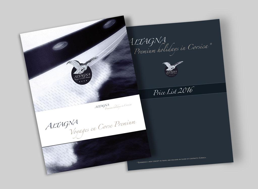Brochure et plaquette tarifs Altagna