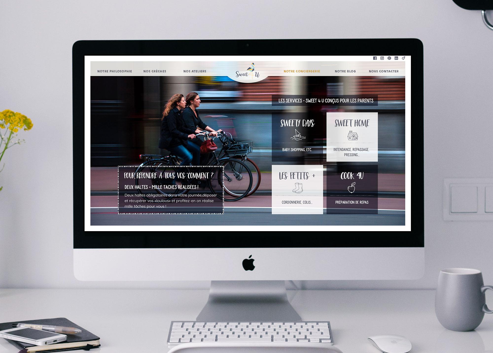 """Page """"Notre conciergerie"""" du site Web de la crèche Sweet 4 U."""