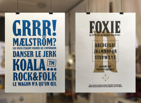 Typographie Foxxie